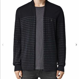 ALLSAINTS Mens Wherry Cardigan Open Sweater S